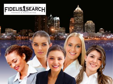 female executives and atlanta skyline graphic